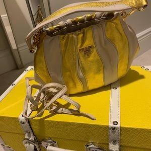 Prada Nappa Stripes Gold Cross Body bag